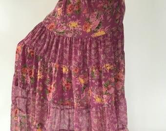 SK0011 Bohemian Skirt. Long skirt, boho style, Beach Skirt, Tiedye, maxi Tiedye