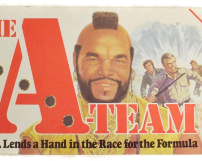 Vintage 80s The A-Team Parker Brothers Board Game
