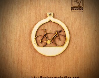 Racing Bicycle Cutout Ornament
