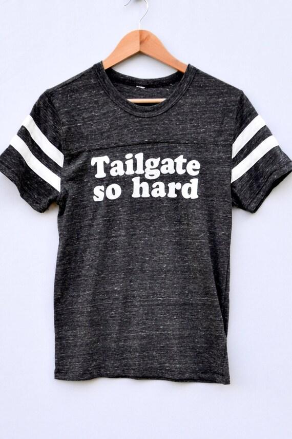 Tailgate So Hard Tee - charcoal
