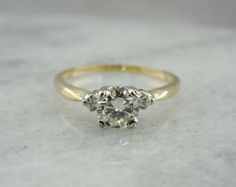 Vintage Diamond Three Stone Engagement Ring, N89FAP-D