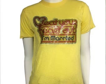70's Eat Your Heart Out, I'm Married Iron-On Tee