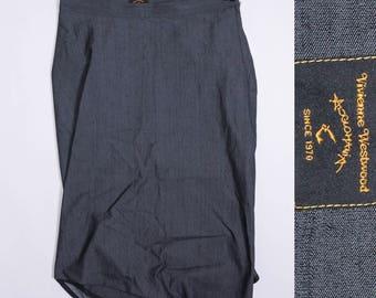 VIVIENNE WESTWOOD Glomania Collection Denim Skirt