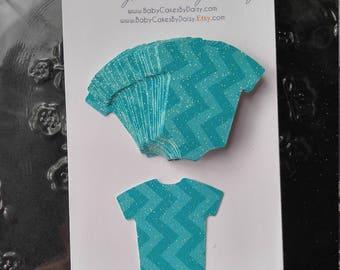 Baby Shower Confetti - Onesie Confetti - Baby Shower Decor - Baby Boy Confetti - It's a Boy - Blue Chevron - Onesie - Baby - Confetti