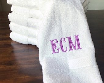 Embroidered MONOGRAMED Hand Towel Monogram Housewarming Gift Newly Weds
