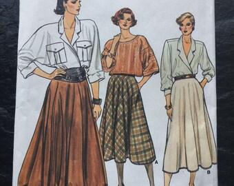 Vintage 1980s Skirt Pattern // Vogue 9169 > sizes 12 > Unused > oversized, pockets