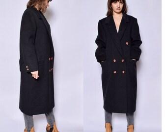 Wool maxi coat | Etsy