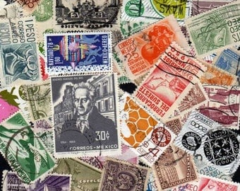 MEXICO Stamps, 45 Diff, Mexico Postage Stamps, Mexican stamps, Mexican Postage Stamps, Mexico, Stamps, Postage Stamps, Stamp Collection