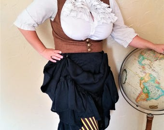 Steampunk Circus Brown Waistcoat Vest