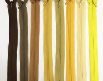 Set of 8 20 assorted colors - set of 4 cm invisible zipper closures