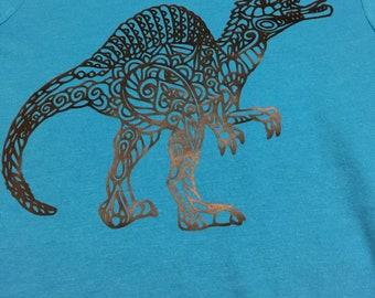 Dinosaur T-Shirt, Boy's T-Shirt with Dinosaur, Boys Shirt with Dinosaur, Dinosaur Shirt, Printed T-Shirt with Dinosaur, Dinosaur Birthday