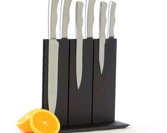Black Magnetic Knife Rack, Knife Holder, Knife Block