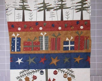 Take A Bough Cat Christmas Fabric Panel by Sandy Gervais for Moda