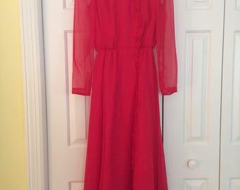 Vintage Mike Benet Formal Dress/Fuschia Formal Dress/Mike Benet dress