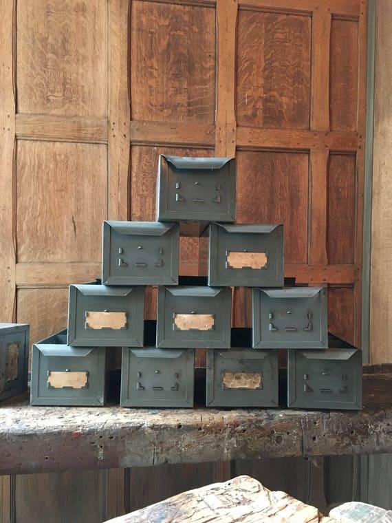 Vintage Metal Drawers, Industrial Storage And Organization, Parts Cabinet Drawers