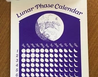 Violet 2018 Lunar Phase Calendar True Violet