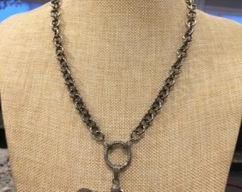 Diamond Bird Necklace on Silver Chain