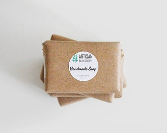 30 Mini Soap Favors | Assorted Hand and Body Wash Bars Gift Pack, Homemade Travel Set, Stocking Stuffers, Thank You, Cold Process, Artisan