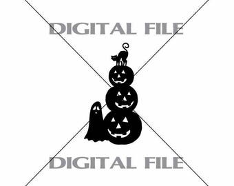 Fun Halloween Vector Image SVG File Digital Cutting File  Ai - Eps - PNG - DXF - Svg - A2