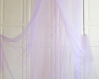 Lilac Purple Baldachin - Tulle Canopy Transparent Canopy Netting canopy Play room canopy & Tulle canopy | Etsy