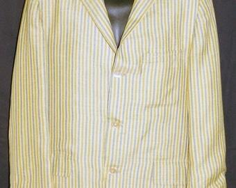 1960s Mens Cotton Jacket 42R Vintage Retro