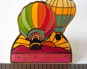 California International Balloon Festival 1990 Lapel, Vest, Hat Pin