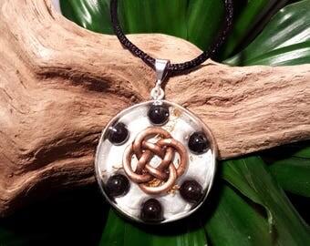 Hematite Orgone Pendant - Celtic Knot - Root Chakra Healing Lightworker Jewellery - Medium