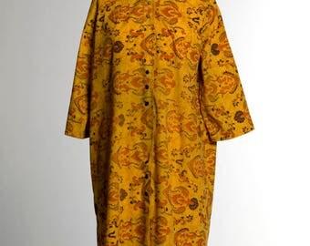 Japanese Batik Print Robe