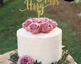 Cake Topper for Wedding with Date, Mr and Mrs Cake Topper, Gold Wedding cake Topper, Cake Topper Personalized, Silver Cake Topper, CT-037