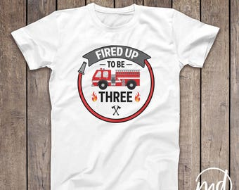 Firetruck Birthday Shirt, Fireman Birthday Tshirt, 3rd Birthday Fireman, 2nd Birthday Fire Truck, Firefighter Birthday Shirt, Fire Truck