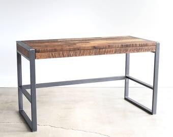 Reclaimed Barn Wood 2-Drawer Desk / Industrial Patchwork Desk