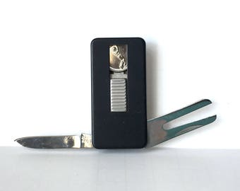 Golf Lover Money Clip, Golfing Ball Marker Money Clip, Divot Tool Money Clasp, Men's Accessory, Money Holder, Rectangle Pen Knife