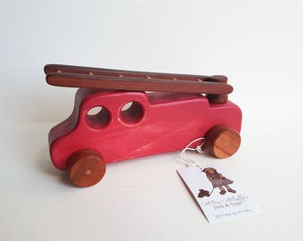 Vintage Style Fire Engine - Wooden Vehicle Toy