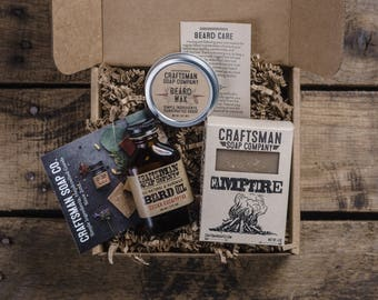 Select Beard Care Kit. Beard Oil, Wax, and Bar Soap in a Gift Ready Package.