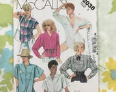 Vintage McCall's Misses' Shirt and Blouse Pattern 2038  in Two Lengths