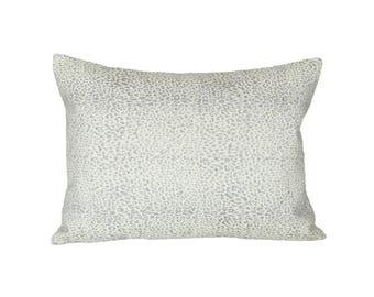 READY TO SHIP - 13 x 18 Mini Leopard Dove designer pillow cover (sized for 13x20 insert) - Schumacher