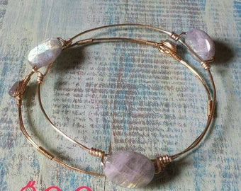 Set of two Labradorite bangles