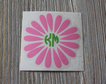 Daisy Monogram Car Decal - Monogram Daisy Car Decal - Monogram Car Decal - Monogram Decal - Car Decal - Daisy Decal - Daisy  - Monogram
