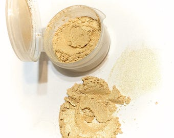 GOLDEN GIRL Mineral Eye Shadow - Natural Mineral Makeup - Gluten Free Vegan Face Color