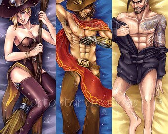 Overwatch Body Pillow Cover Dakimakura Sexy Cute Waifu Husbando