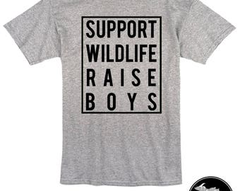 Support Wildlife Raise Boys Shirt & More! Made to order!