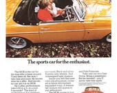 1970 MGB Roadster A3 mini poster reproduced from the original advert.