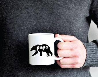 Papa Bear Mug - Coffee Mug dad gift husband gift boyfriend gift fathers day gift