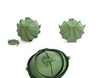 Green leather bag, small green purse, green bag, green leather purse mini crossbody bag, small shoulder bag cell phone crossbody beetle bag
