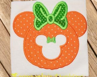 Ms Mouse Pumpkin Shirt or Bodysuit