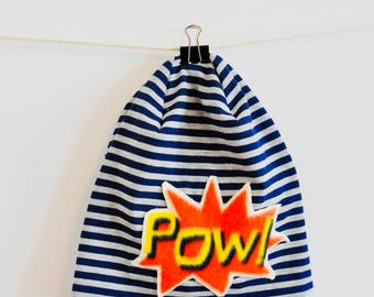 """Slouch Beanie """"Pow!"""" for babies and kids"""