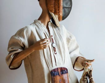 "French antique DRESS... ""Safari"""