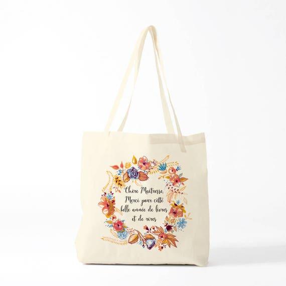 Tote bag, canvas bag, thank you teacher, orange version, gift teacher, groceries bag.