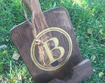 Wood Tablet Stand, Kitchen Tablet Stand, Ipad Stand Wood, Monogram Tablet  Stand,