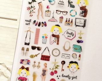 Dolly Girl Planner Stickers